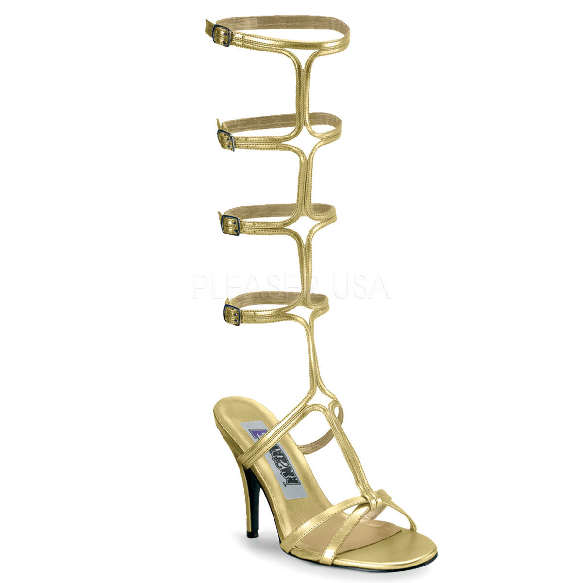 Sexy gold Roman Goddess Egyptian Greecian Halloween Costume shoes ROMAN10 G PU