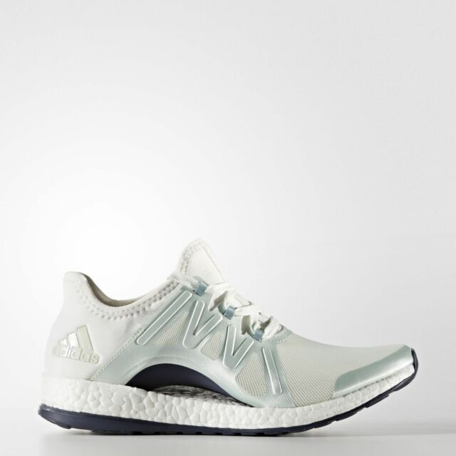 63de04856 Adidas BB1732 Pure Boost X Pose Running Shoes womens Green sneakers White  SZ 5.5