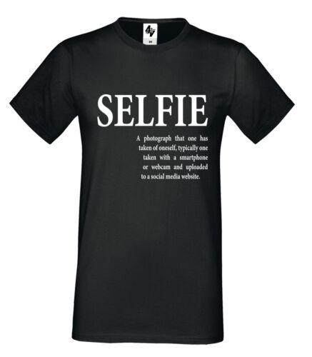 Mens Designer Selfie Fashion à encolure ras-du-cou à manches courtes T Shirt