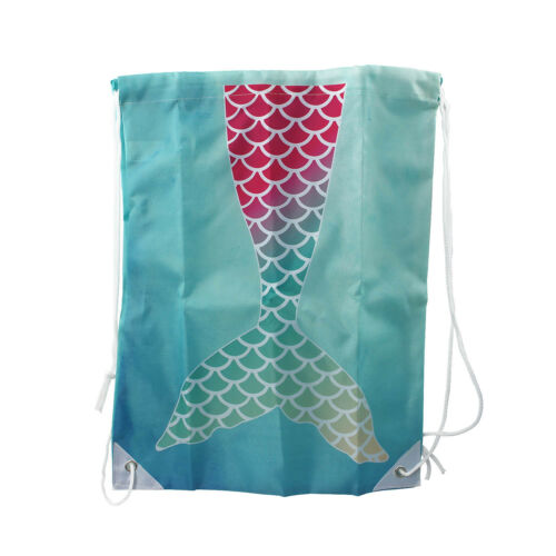 42x34cm Mermaid Tail Drawstring Bag Backpack Gym Bag Sack Gift Women Girl Kids