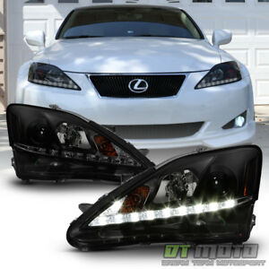 For Black Smoke 2006-2010 Lexus IS250 IS350 LED DRL Strip Projector ...