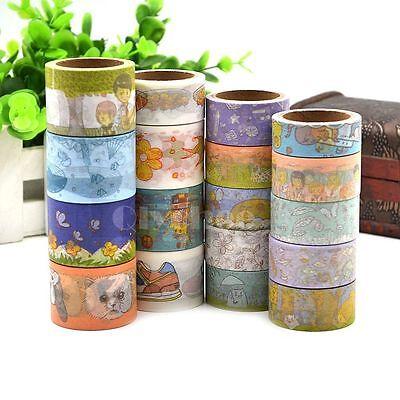 1X Washi Tape Free Shipping Scrapbooking Decorative  Sticky Adhesive DIY Decor