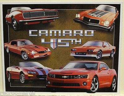 CHEVROLET CAMARO metal sign camaro tribute 45 years multi year cars chevy 1782