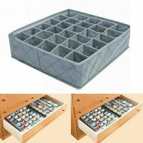 30-cell Bamboo Charcoal Underwear Ties Socks Drawer Closet Organizer Storage Box