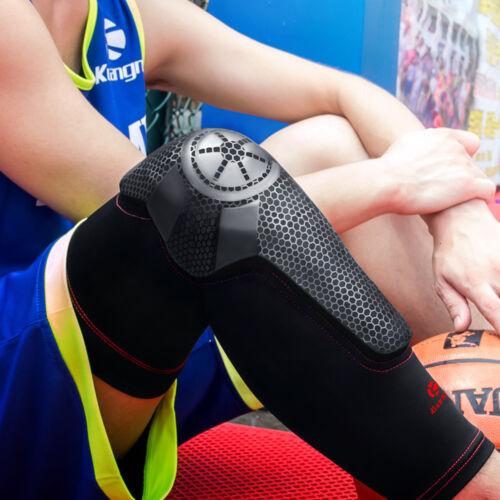 Kuangmi cycling Knee Pad Compression Sleeve Shin Guard Kneepad Black Size XL
