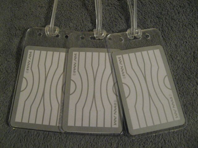 Pan Am Luggage Tags - Pan American Airlines Vintage Playing Card Name Tag Set 3