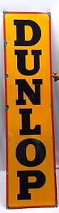 DUNLOP-TIRE-VINTAGE-PORCELAIN-ENAMEL-SIGN-RARE-AUTO-COLLECTIBLES-PETROL-GAS-OIL