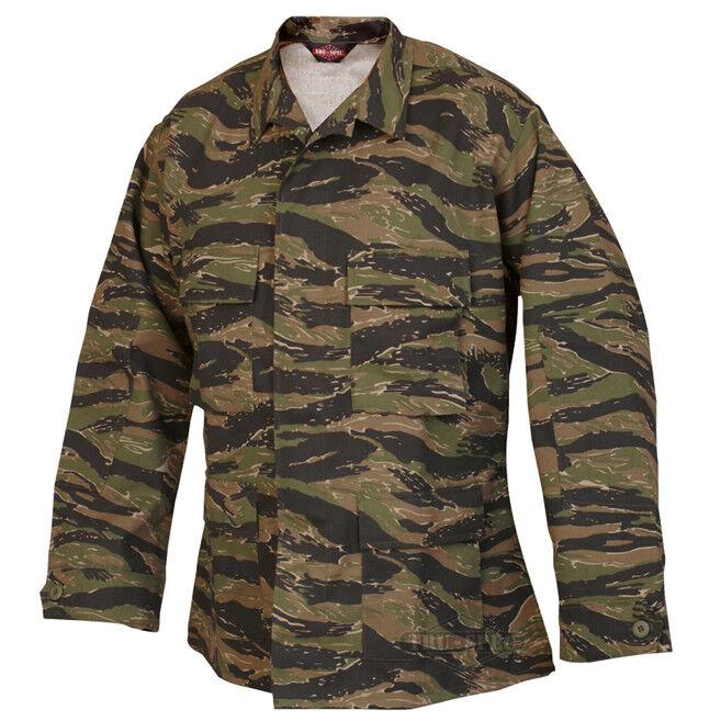 Tru-Spec Vietnam Tiger Stripe BDU Coat 60 40 Cotton Poly Twill