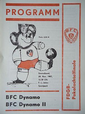 Programm 1988//89 Union Berlin BFC Dynamo