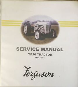 genuine ferguson te20 workshop manual 10245392 ebay rh ebay com au massey ferguson te20 workshop manual ferguson te20 workshop repair manual