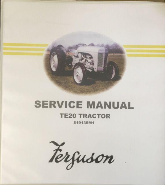 genuine ferguson te20 workshop manual ebay rh ebay co uk ferguson te20 workshop manual massey ferguson te20 workshop manual free download
