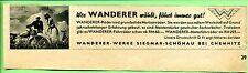 Wanderer-- Wer Wanderer wählt fährt immer gut---Markenräder --Werbung von 1938