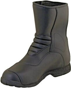 Prexport-Passo-Black-Leather-Waterproof-Motorcycle-Boots-New-RRP-89-99