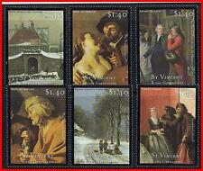 ST.VINCENT = DUTCH PAINTINGS  MNH  COSTUMES, JUDAICA, THEATER (K-J18)