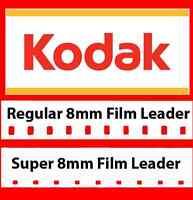 Kodak 8mm / Super 8mm White Movie Film Leader Combo Pack w/FREE Reel Adapter!!!