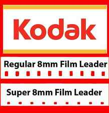 Kodak 8mm / Super 8mm White Movie Film Leader Combo Pack w/FREE Reel Adapter!!!