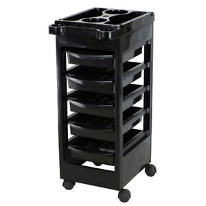 Salon-Spa-Trolley-Storage-Cart-Coloring-Beauty-Rollabout-Hair-Blow-Dryer-Holder