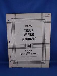 GM 1979 TRUCK WIRING DIAGRAMS MEDIUM & HEAVY DUTY MODELS ...