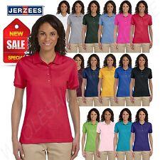 Jerzees Women Polo Shirt Short Sleeve SpotShield Solid M-437W