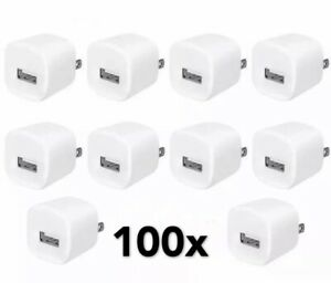 100x-White-1A-USB-Power-Adapter-AC-Home-Wall-Charger-US-Plug-FOR-iPhone-5S-6-7-8