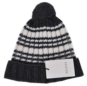 85e118008d9f2 NEW Gucci Men s 415211 100% Wool Striped Beanie Ski Hat S