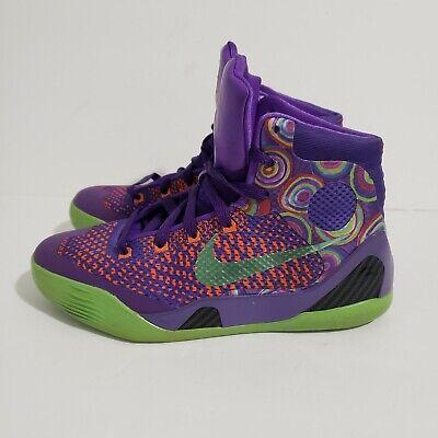 Nike Kobe Bryant 9 Elite GS 2013 Purple Venom TURF ORANGE ...