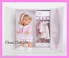 "14"" BIG BABY BLONDE GIRL DOLL NEW BOXED ANTONIO JUAN WARDROBE BOX  EX CLOTHING"
