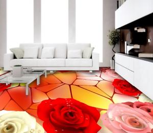 3D Bright pink Polygon 6 Floor WallPaper Murals Wall Print Decal AJ WALLPAPER US