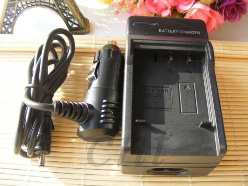 Cargador De Batería O Para Sanyo DB-L20 DB-L20A DB-L20AU Xacti DMX-C1 DSC-J4 Nuevo