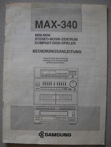 SAMSUNG MAX-340 Bedienungsanleitung