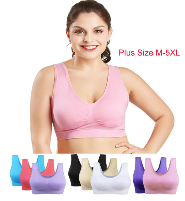 Pack Lot Size M-5XL Women/'s Bra Candy Color Casual Underwear GYM Sports Bra