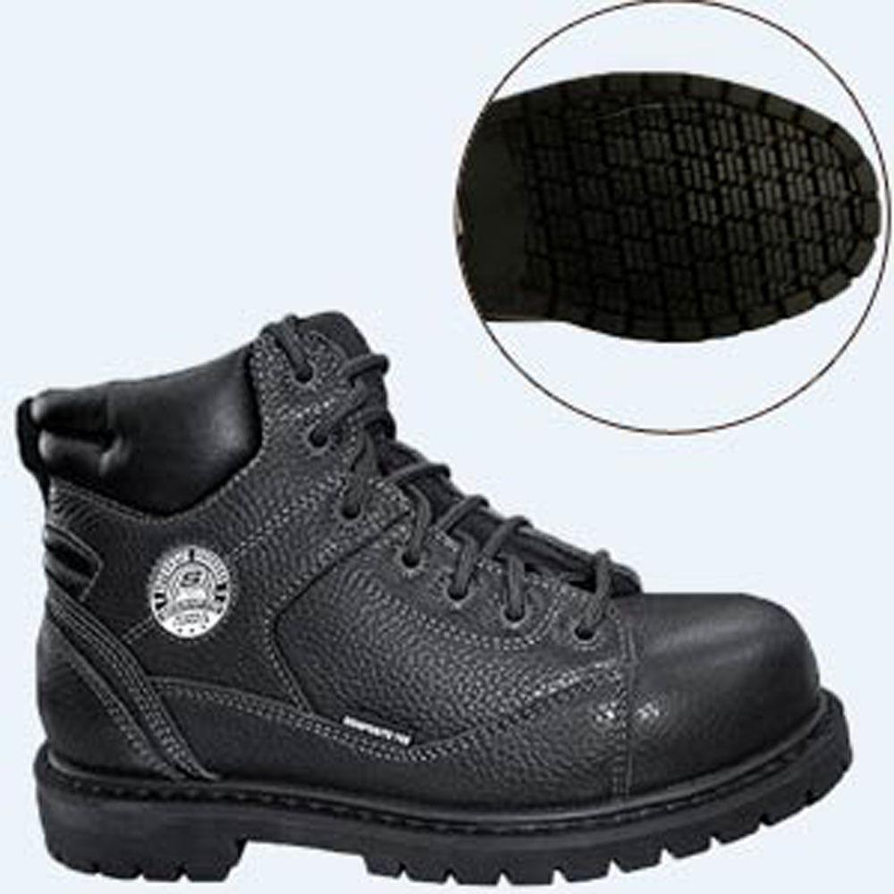 New Skechers 76547 stedman Blaylock Leather Safety Safety Safety Toe damen Stiefel Sz 7.5 3618a3