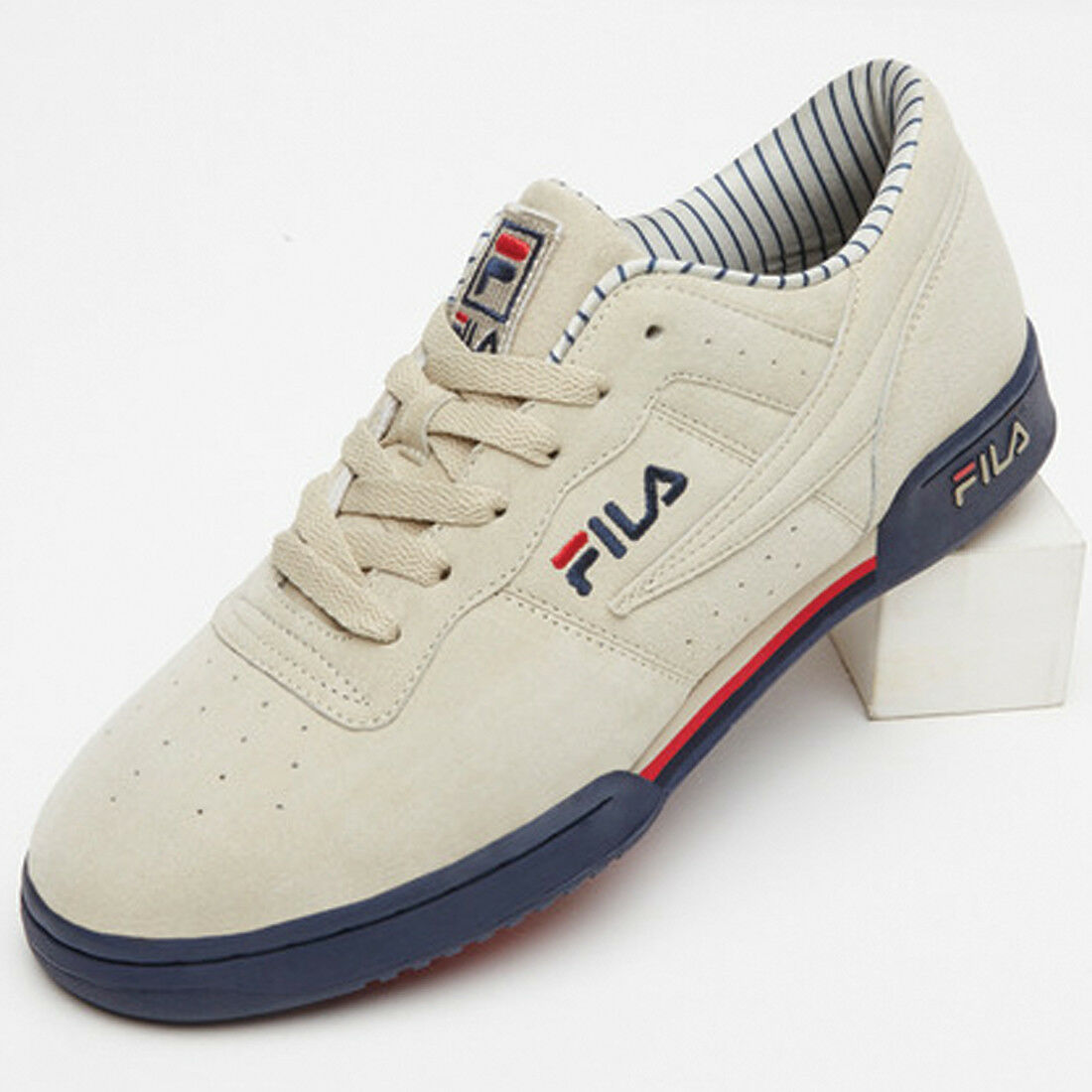 New authentic Hombre fila original Casual Fitness Pinstripe 1vf80127-922 Wild Casual original Shoes 5f9a66