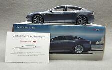 Tesla Motors 1:18 Scale Diecast P85 Model S Midnight Silver Metalic
