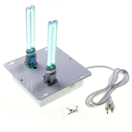 """Cleaner Dual Lamp 6/"""" AC HVAC Duct Whole Home Plug-In UV Light and Air Purifier"""