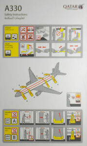 Airlines-safety-card-QATAR-AIRWAYS-A330