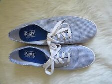 Keds Champion Canvas Casual Lace Up Sneakers Shoes Size 8 Chambray Plaid