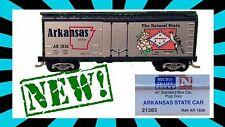 BRAND NEW✓ N SCALE MICRO-TRAINS✓ Arkansas STATE✓ CAR 40' PLUG DOOR✓ BOX✓