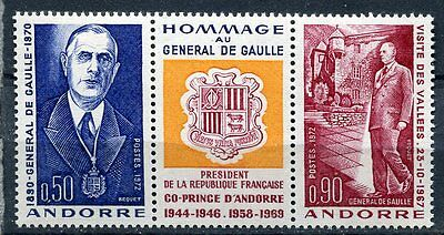 Supply Timbre Andorre France Neuf N° 225 A Hommage Au General De Gaulle Co Prince Andorra Stamps