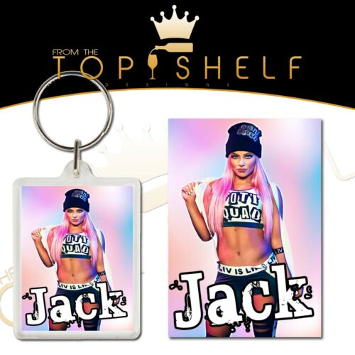 Personalised Liv Morgan wrestling keyring bag tag