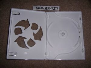 1 Nintendo Wii 2 Disc Genuine w/ LOGO OEM Replacement Game Case CD DVD Box RARE