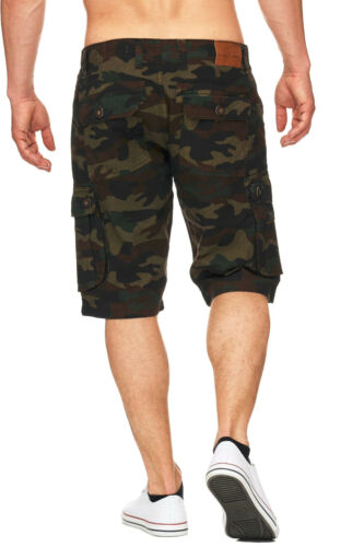 Maddu Messieurs Cargo Short Camouflage Army Chino Capri Bermuda