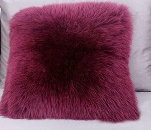 Sweet Real Soft Sheep Skin Fur Pillowcase Fleece Pillow Cushion Cove Pageant New