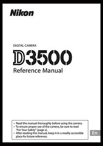 Nikon-D3500-Instruction-Owner-User-039-s-Manual-Book-NEW
