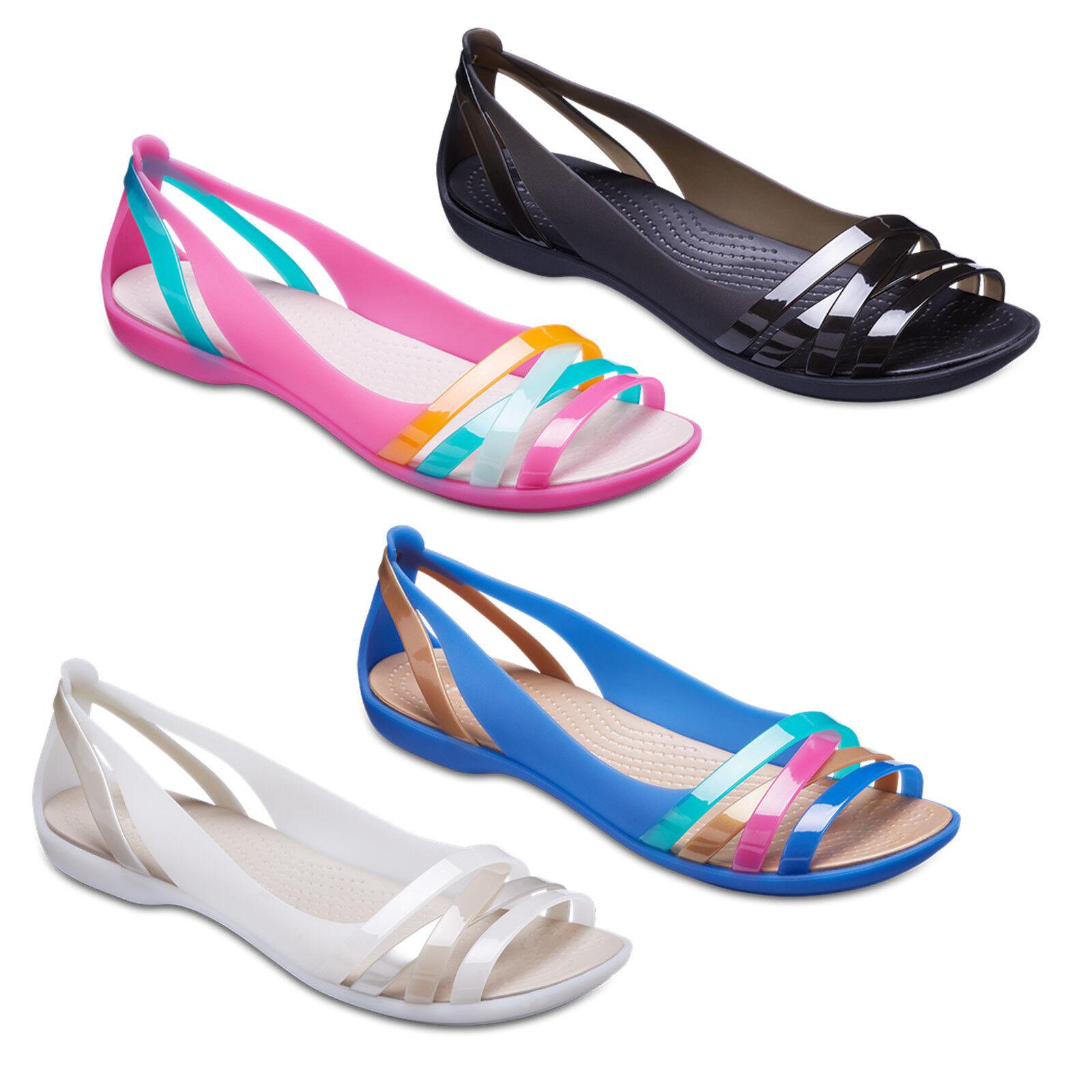 15a20e2a0cc2 Women s Crocs Isabella Huarache 2 Flat W Sandals in Black UK 7   EU ...