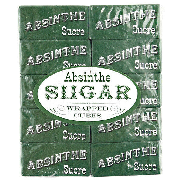 Absinthe Wrapped Sugar Cubes - 20 Packets - Green Fairy French Drinking Supplies