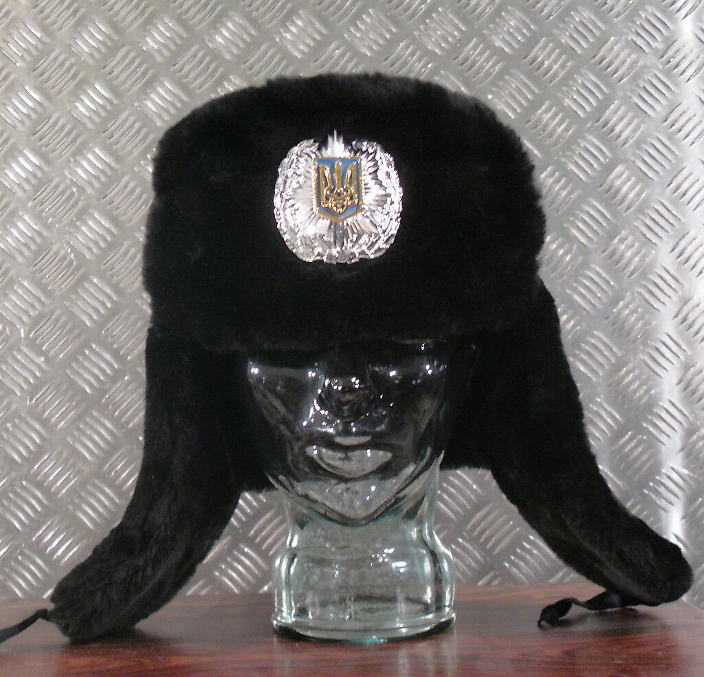 Genuine Russian Soviet / Soviet Russian / USSR Black Police Cossack Hat - Size 61cm / XL - NEW cdc7a7