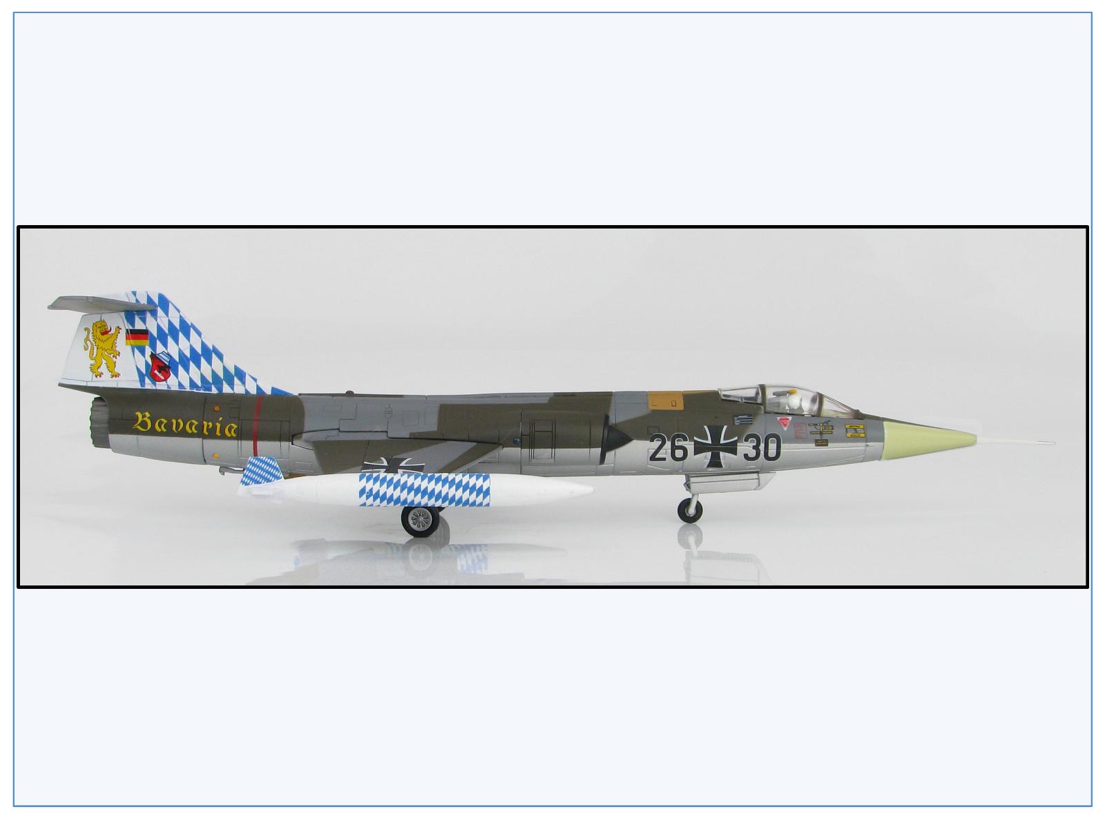 Ha1033 f-104g Starfighter JABO 32 26+30  Bavaria , HOBBY MASTER 1 72, NEUF 7 17 &
