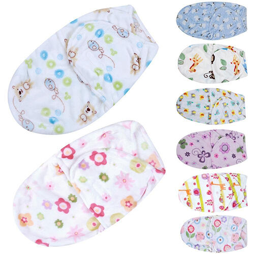 FJ NE/_ LC/_ BABY NEWBORN INFANT SWADDLE WRAP BLANKET SLEEPING BAG FOR 0-6MONTHS