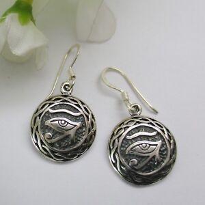 Verantwortlich Auge Des Ra Ohrringe Silber 925 Auge Des Re Keltische Ohrringe